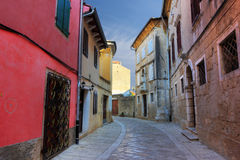 Narrow street in Porec Royalty Free Stock Image