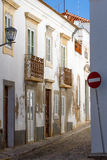 Narrow street in Portugal Stock Image