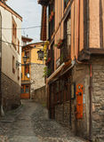 The narrow street in Potes Royalty Free Stock Images