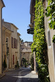 Narrow street in Provence Royalty Free Stock Photos