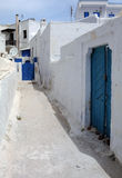 Narrow Street in Pyrgos Village Stock Image