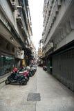 Narrow Street. Narrow quiet street in Macau Stock Image