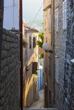Narrow street of Rab city Stock Photography