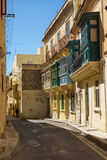 A narrow street of Rabat. Malta Royalty Free Stock Photos