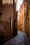 Narrow street in Ravenna Royalty Free Stock Images