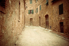 Narrow street in Ravenna Stock Photo