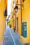 Narrow street in Rethymno Stock Image
