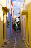 Narrow street in Rethymnon, Crete, Greece Stock Images