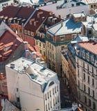 Narrow street in Riga, Latvia Stock Photo