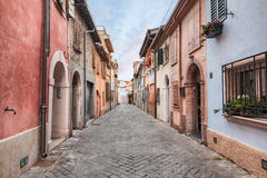 Narrow street in Rimini, italy Royalty Free Stock Photography