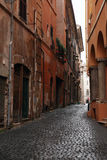 Narrow Street In Rome Stock Photo