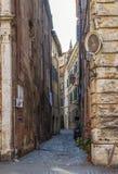 Narrow street in Rome Stock Image