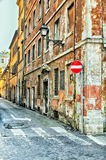 Narrow street in Rome Royalty Free Stock Photos