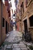 Narrow street of Rovinj royalty free stock image