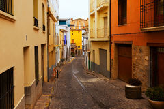 Narrow street of   Sagunto, Valencian Community Royalty Free Stock Photography