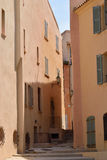 Narrow street in Saint Tropez Stock Images