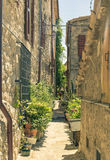 Narrow street in San Marino Stock Image