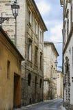 Narrow street in San Severino Stock Photo