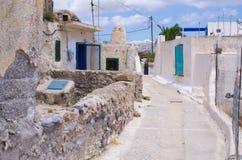 Narrow street on Santorini island, Greece Stock Images