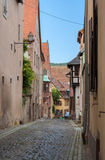 A narrow street in Saverne - Alsace, France Stock Image