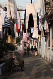 Narrow street in Shanghai, China Royalty Free Stock Image