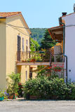 Narrow street of small picturesque Italian town on Elba Island, Stock Photo