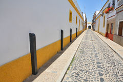 Narrow street of the small Spanish town stock photo