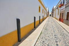 Narrow street of the small Spanish town Stock Photo
