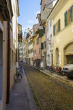 Narrow street in Solothurn Royalty Free Stock Image
