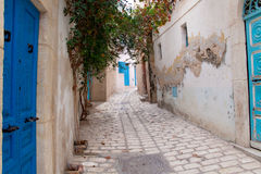 Narrow street in Sousse Royalty Free Stock Image