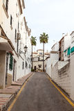 Narrow street in Spain Royalty Free Stock Photo