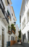 Narrow street of Spanish town Baza Royalty Free Stock Images