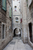 Narrow Street in the Split Old Town Royalty Free Stock Photo