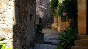 Narrow street with stairs in the old town