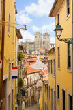 Narrow  street with stairs, Porto, Portugal Stock Photos