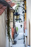 Narrow street and stairs Royalty Free Stock Image