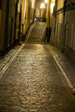 Narrow street in Stockholm Royalty Free Stock Photos
