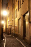 Narrow street in Stockholm Royalty Free Stock Photos