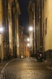 Narrow street in Stockholm Stock Photo