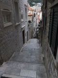 Narrow street with stone pavement Stock Photography