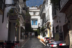 Narrow Street in the Stylish Town of Marbella on the Costa del Sol Spain Stock Photos