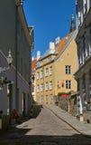 A narrow street in Tallinn Stock Photography