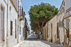 Narrow street in Tarbarca, Alicante, Spain Royalty Free Stock Image