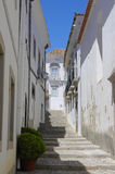 Narrow street in Tavira Royalty Free Stock Photos