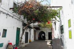 A narrow street in Tetouan Royalty Free Stock Photography