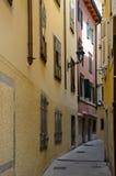 Narrow street in Trieste, Italy Stock Image