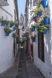 Narrow street typical of Cordoba Royalty Free Stock Photo