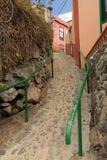 Narrow street of Vallehermoso Stock Photos