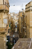 Narrow Street of Valletta Stock Photography