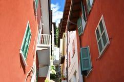 Narrow street of Varenna at the lake Como, Italy Royalty Free Stock Photo